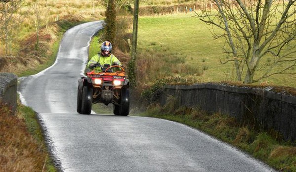 Quad Bike on Road